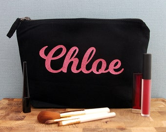 Name Makeup Bag, Custom, Personalised Make Up Bag, Personalised Cosmetic Bag, Personalised Make-Up Bag, Gifts for Her, Girlfriend Gift
