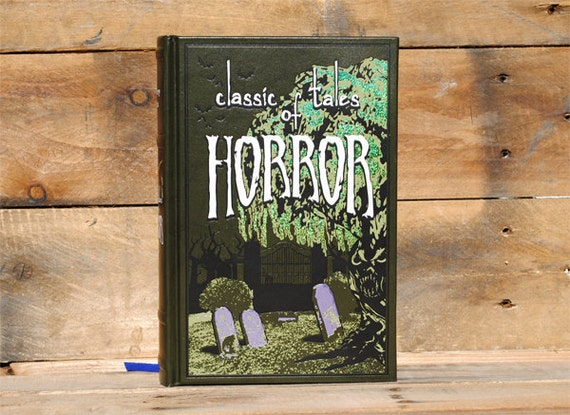 Hollow Book Safe - Classic Takes of Horror - Green Leather Bound