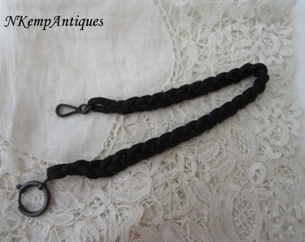 Antique watch chain 1910 for the collector gunmetal clasps