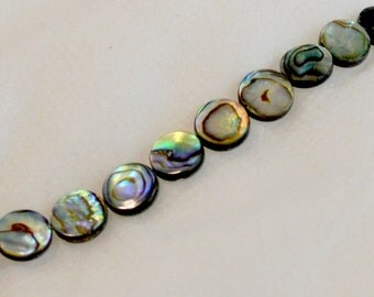 10mm Round Abalone Shell Beads