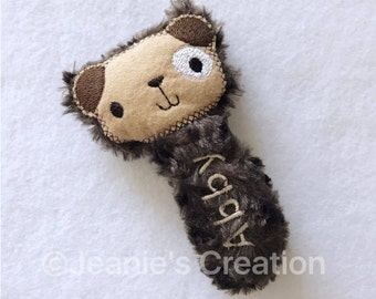 Puppy Rattle / Doggy rattle / Animal Rattle / Puppy softie