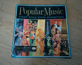 Vintage Popular Music That Will Live Forever 10 Record Album Set