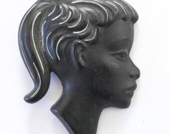 Duron made Black Chalkware Girl