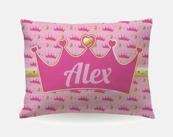 Princess Room Decor, Princess Bedding, Princess Bedroom, Personalized Princess Crown Pillow