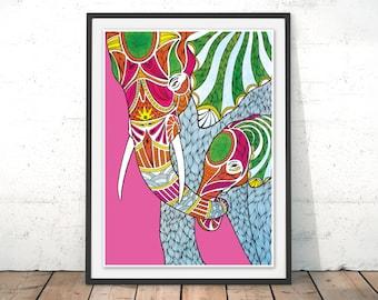 Wall Art Framed elephant wall art | etsy