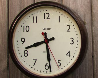1930s/1940 Smiths Sectric Vintage Electric Industrial Wall Clock