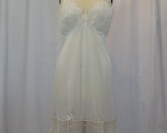 Carter's White Night Gown Slip with Eyelet Bodice and Trim