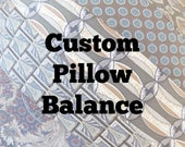 """CUSTOM LISTING for R.G. ~ Balance Due for 16"""" Custom Tie Pillows ~ Decorative Throw Pillow with Your Neckties Memory Pillow Custom Order"""