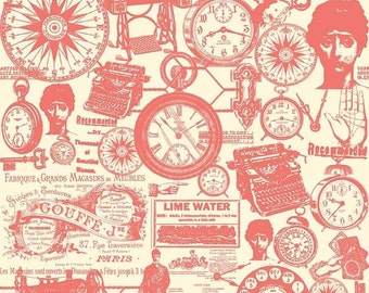 Extra 20% OFF 1/2 yard TRENDSETTER by Fancy Pants Designs For Riley Blake Designs Main Coral