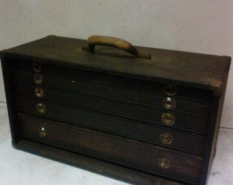 Wooden machinest tool box