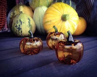 Glass Halloween Pumpkins