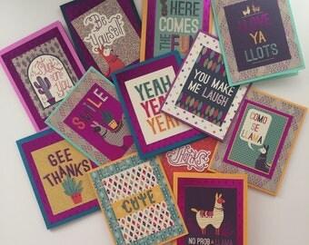 Llama Boxed Card Set