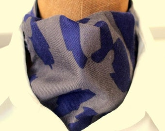 ascot,mens ascot,ascot tie,mud colors with blue,