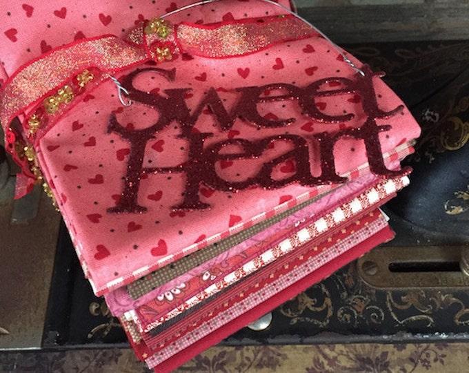 "Featured listing image: Fabric: FAT QUARTER 14 pc. Bundle ""Sweet Valentine""- Sampler Fabrics from Moda"