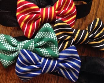 small pet adjustable bow tie bow hogwarts harry potter gryffindor slytherin hufflepuff ravenclaw bunny guinea pig cat small dog ribbon strap