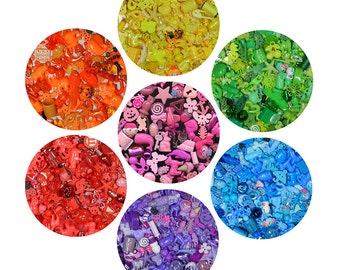 RAINBOW TRINKETS for color sorting activities, color matching, Montessori, special needs, teachers, I Spy, crafts, and educational games