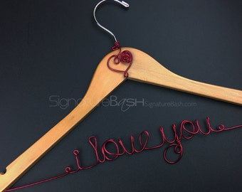 Bridal Hanger with Colored Wire Charms / Custom Hanger / Presents / Bridal Hangers