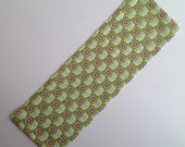 Heat Therapy Rice Bag, Hot/Cold Pack - Lime Green with Orange Flowers