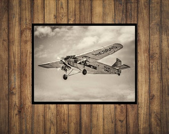 Sepia Photo of a 1929 Ford Trimotor