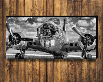 18x36inch WWII B-17 Flying Fortress bomber plane Photograph