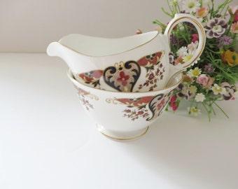 Colclough vintage 1970's Royale Creamer set, Milk jug and sugar bowl, Colclough china