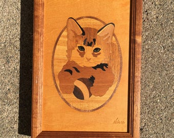 Hudson River Inlay #66, Kitty with Ball