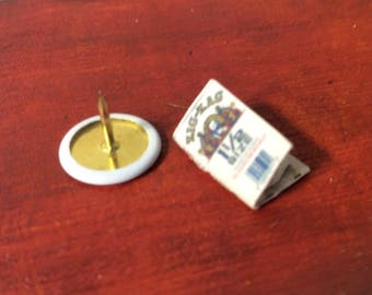 Zig Zag 1 1/2 White Dollhouse Miniature Fancy Rolling Papers - Cigarette Papers - Paraphernalia Adult Collectible