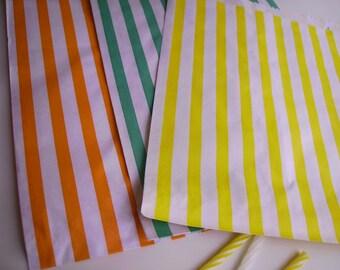 10 x paper bag candy stripe
