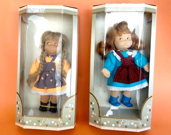 Rare collectible dolls Elite by Migliorati manufactured in Italy in 1980