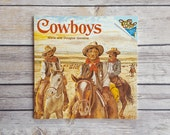Little Boys Cowboy Book | Cowboys A Please Read to Me | Cowboy Themed Children's Room | Wild West Storybook | 70s Wild Frontier Kids Book