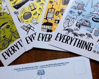 Set of four seasonal postcards  Everything the berkshires