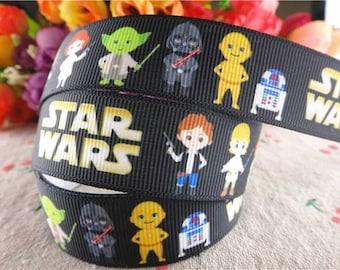 Star Wars R2D2 C3PO   Grosgrain ribbon