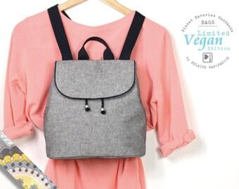 Backpack ice crystal, bucket bag, back pack, grey, business bag, bag, gym bags, Festvalbag, gray bag, canvas bag, bag vegan, vegan