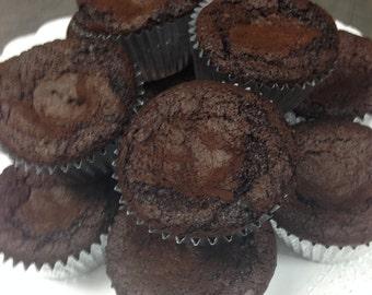 One Dozen Moist Dark Brownies