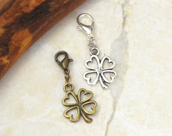 Four Leaf Clover Good Luck Charm Celtic Jewelry, Ireland Planner Charm for Fauxdori, Midori Charm Travelers Notebook