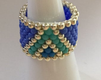 Womens Ring Band Beaded Accessory