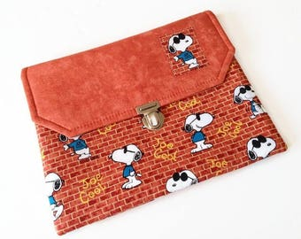 Snoopy Joe Cool Ipad Case, Ipad Air Cover, Peanuts Tablet Case, Gift Idea for Snoopy Lovers