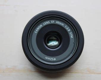 Canon EF 40 mm F/2.8 STM Pancake Lens