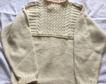 Hand knitted Guernsey Style Sweater