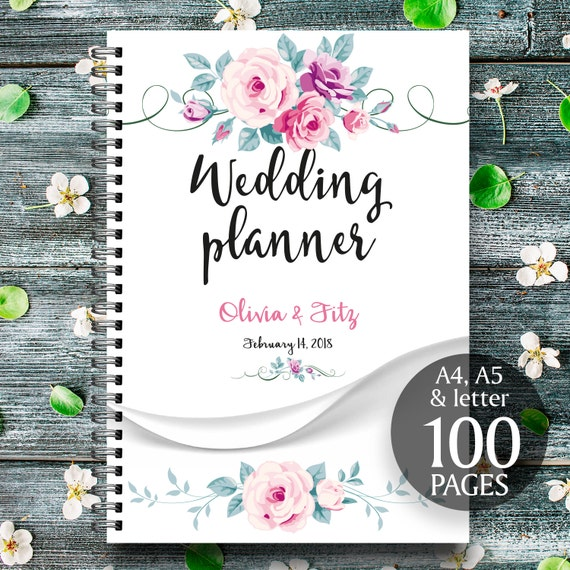 Wedding planner printable, Printable wedding planner, Floral wedding binder, Spring wedding planner, Wedding checklist, Wedding to do list