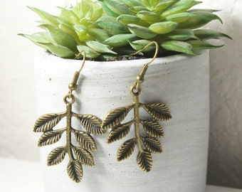 Bronze Leaf Earrings (special price)