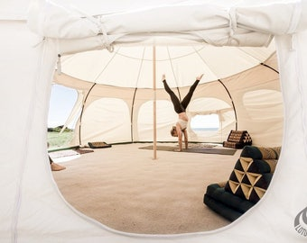 13ft Lotus Belle Outback Deluxe Tent yurt, burning man, glamping festival tent