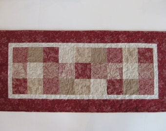 Table Runner, Patchwork Table Runner, Quilted Table Runner
