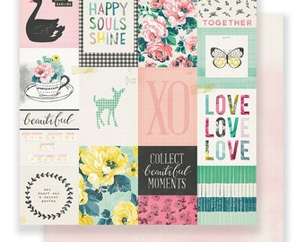 "Maggie Holmes BLOOM Collection by Crate Paper, ""Fresh"", 12X12 Double-sided Designer Paper"