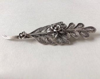 Art Deco Silver Brooch