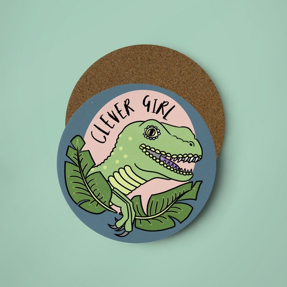 Clever Girl Raptor: Clever Girl Coaster Illustrated Coaster Raptor Coaster