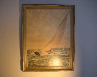 Montague Dawson signed goutteletie on Canvas