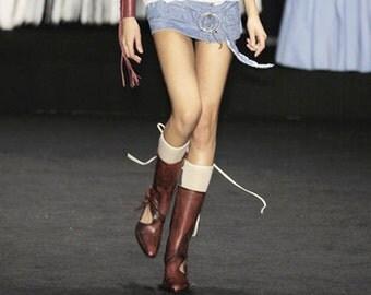 Shoes Diesel Design Style Lab Original Vintage Ankle Boots Leather Women sz. 39/9/6