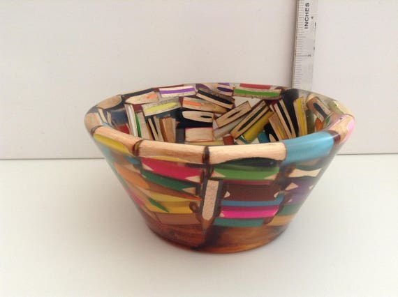 Stunning Pencils Cast In Resin Bowl The Base Of This
