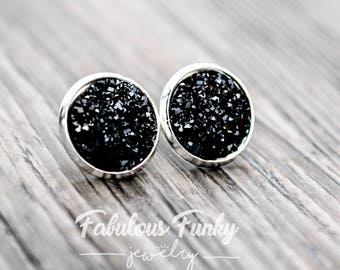 """Silver earrings - """"Sparkly stones"""""""